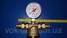 Самопромывной фильтр ICMA 1/2`` (манометр+штуцера), фото 2