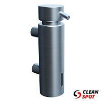 Дозатор для мыла жидкого наливной 300 мл. матовая нержавеющая сталь