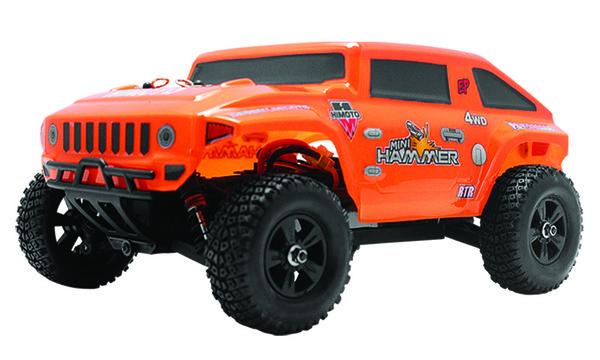 Хаммер на радиоуправлении 1:18 Himoto Mini Hummer E18HM (оранжевый)