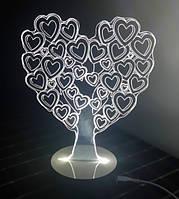 Светильник Оптический обман 3D Love Tree