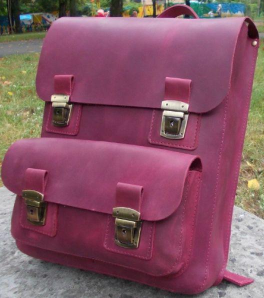 a51b9dea7d37 Рюкзак из натуральной кожи Babak 885066 марсала 7 л — только ...