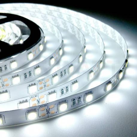 Светодиодная лента SMD 5050, 60 диодов/метр, 12V, 14.4W/m, 18lm, IP20, негерметичная, 5 метров, белая