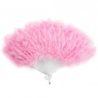 Веер перо (Розовый)