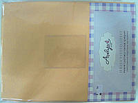 Трикотажная простыня 160*200 на резинке + 2 наволочки 70*70 персик