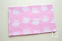 Ткань Совы на розовом (№ 12)