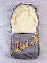 Конверт на санки і коляску, зимовий, фото 2