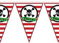 "Флажки гирлянда  ""Пираты"""