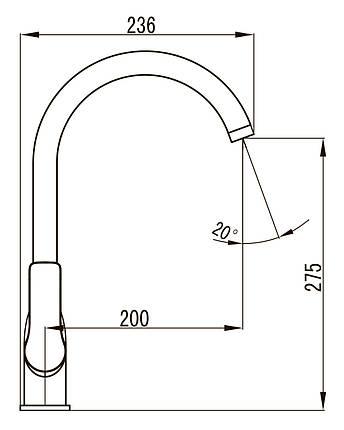 KUCERA смеситель для кухни, хром 35 мм, фото 2