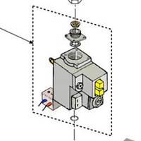 Газовый клапан V4600C 1193 FERROLI Pegasus F2 Т 39802280 (36802060)
