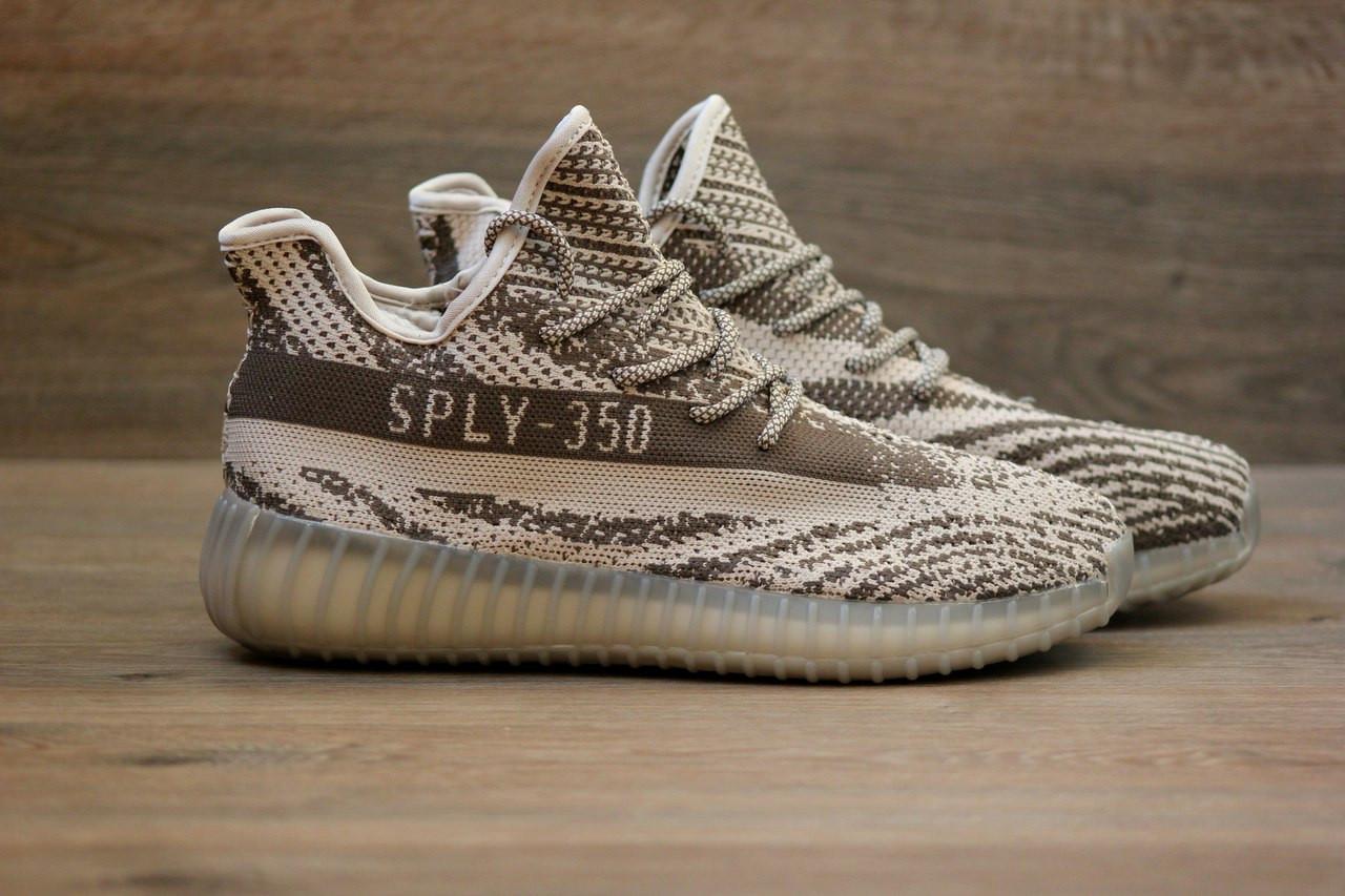 Кроссовки в Стиле Adidas Yeezy Boost 350 V2 Grey Glow Sole Женские 37 — в  Категории