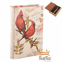 Шкатулка сейф в виде книги Птицы