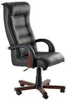 Кожаное кресло Роял Люкс кожа сплит чёрная