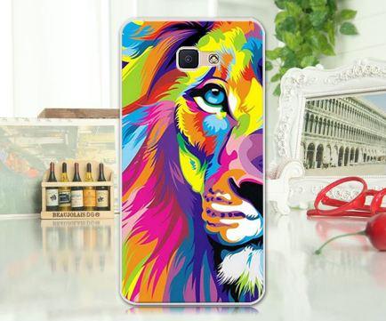Оригинальный чехол панель для Samsung Galaxy J7 Prime G610 с картинкой Цветной лев