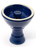 Чашка керамическая для кальяна синяя (d-7,h-8 см внутренний диаметр 30 мм)