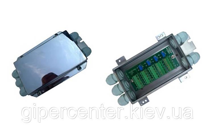Соединительная коробка для 4-х аналоговых датчиков JB4SS (нержавеющая сталь/в корпусе с гермовводами), фото 2