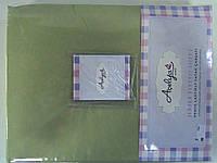 Трикотажная простыня 160*200 на резинке зеленая