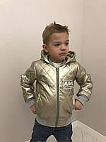 Короткая кожанная куртка для девочек 341