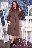 Женское зимнее пальто с капюшоном (р. 48-60) арт. 697 Тон 58