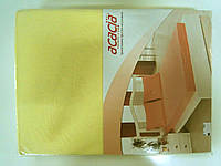 Трикотажная простыня 160*200 на резинке +2 наволочки желтая
