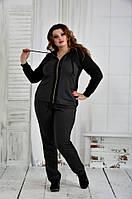 Темно-серый спортивный костюм большого размера р. 42-74