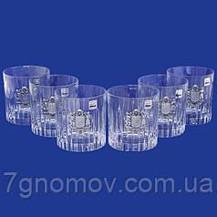 Набор хрустальных бокалов для виски с гербом Украины Suggest арт.PB41562