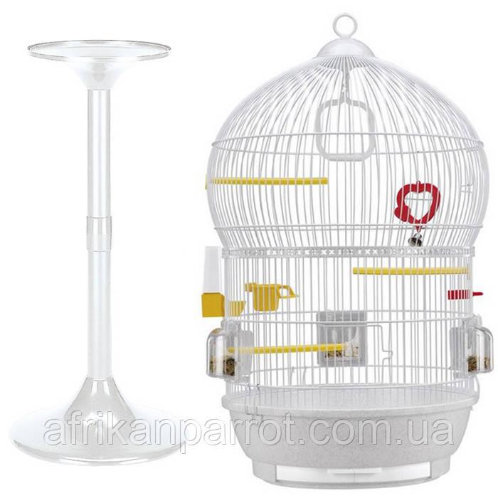 Клітка для птахів (Ferplast BALI) біла.