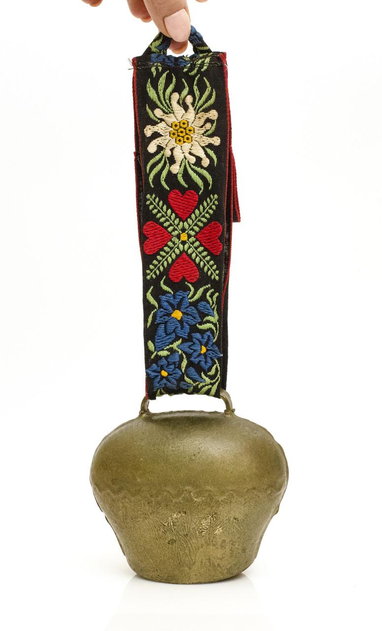 Старий коров'ячий дзвоник, метал, бронзирован