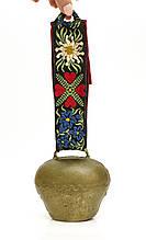 Старый коровий колокольчик, металл, бронзирован