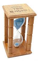 "Часы песочные в бамбуке ""Time is Money"" (20 мин)(16,5х10х10 см)."