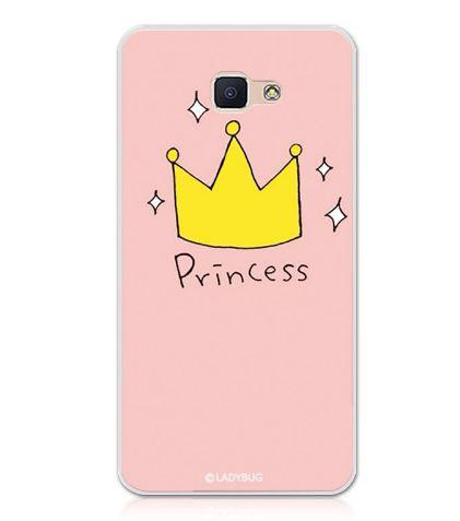 Бампер силиконовый чехол для Samsung Galaxy J7 Prime G610 с картинкой Принцесса