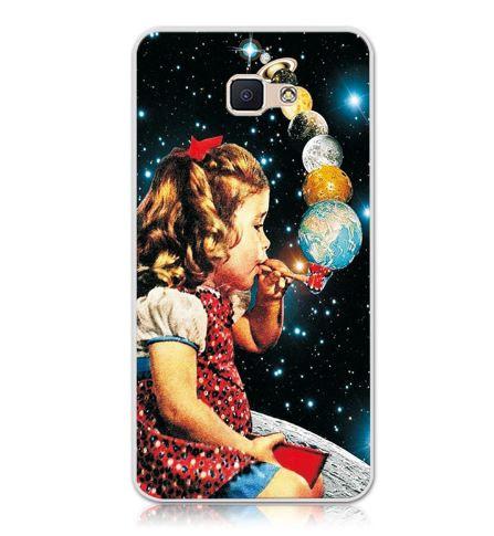 Бампер силиконовый чехол для Samsung Galaxy J7 Prime G610 с картинкой Девочка