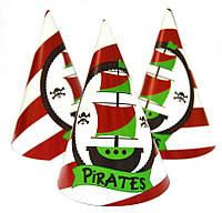 """Колпаки праздничные, маленькие """"Пираты"""""""
