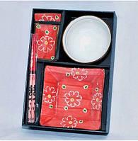 Набор для суши 6  предметов, цвет красный