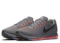 Мужские кроссовки Найк Zoom All Out Low Grey/Red Реплика, фото 1