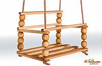 Качели деревянная-2 с спинкой 11C24-1
