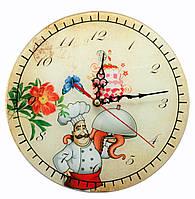 """Часы настенные """"Повар"""" стекло (d-25 см)(тихий ход)"""