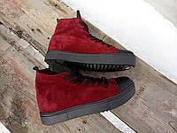Зимние замшевые ботиночки Plein.