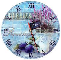 """Часы настенные """"Лаванда"""" стекло(d-25 см)(тихий ход)"""
