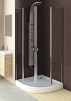 Полукруглая душевая кабина Aquaform GLASS 5 800x800x1850