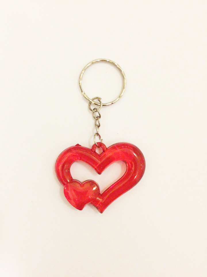 Брелок двойное сердце С 12 штук