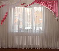 Жесткий ламбрекен Люкс розовый 3м, фото 1