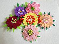 Брошка Цветы, фетр, подарок на 8 -е марта