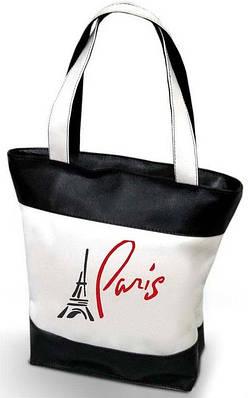 """Женская сумка """"Paris"""" - ( комбинированные ткани ) К 108"""