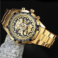 Механические часы мужские с автоподзаводом  Forsining Skeleton, м-011/g