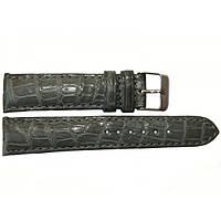 Ремешок для часов женский из кожи крокодила 1707. ALWS 02 Grey