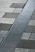 Решетка в поперечный прут 100см., B125, нержавеющая сталь, для каналов V 100 крепления DRAINLOCK, фото 1