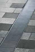 Решетка в поперечный прут 50см., B125, нержавеющая сталь, для каналов V 100 крепления DRAINLOCK, фото 1