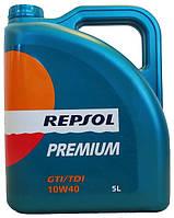 Масло моторное REPSOL PREMIUM GTI/TDI 10W40 5лит.