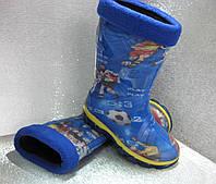 Сапоги  резиновые детские  синие с съёмным утеплителем для мальчика 23р.24р.26р.