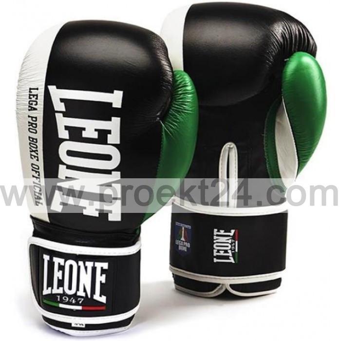 Боксерские перчатки Leone Contender Black-14 oz